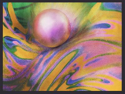 SSS album art abstract psychedelic fresco ipad art ipadpro design texture illustration