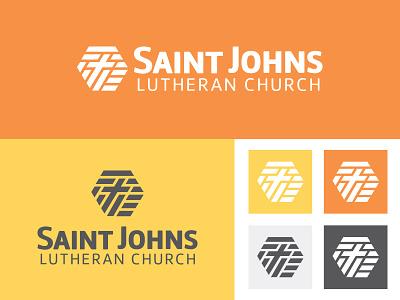 SAINT JOHNS LUTHERAN  christian faith church logo branding identity