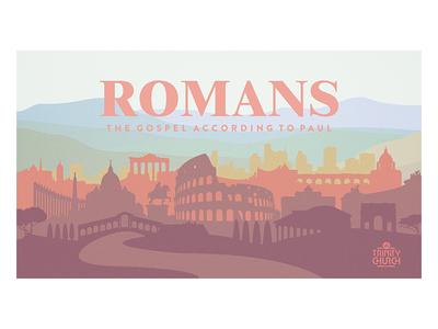 ROMANS series art trinity christ christian series sermon graphics sermon series gospel paul romans rome church