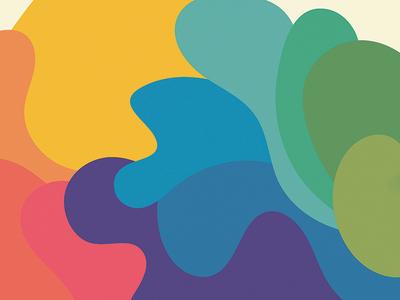 fun colors and curvy shapes organic colors wobble fluid curvy shapes color