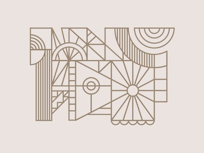 shapey deco line things abstract lines line art radial geometric geo shapes deco art deco