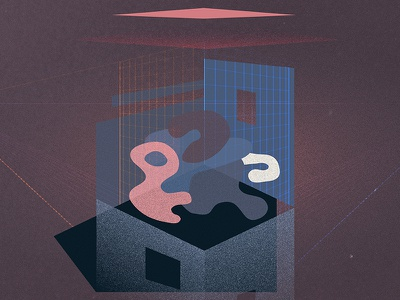 your mind at home blobs blob shapes textures grid walls building perspective home