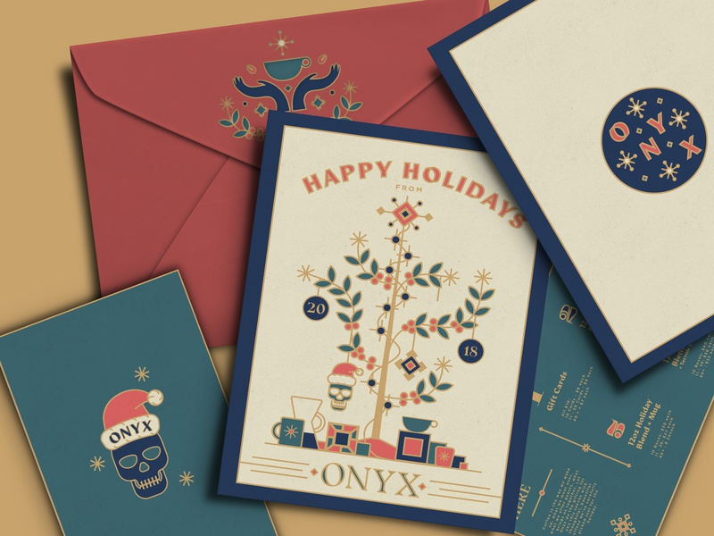 Coffee Christmas Cards.Onyx 2018 Christmas Card Mockup By Brenton C Little On Dribbble