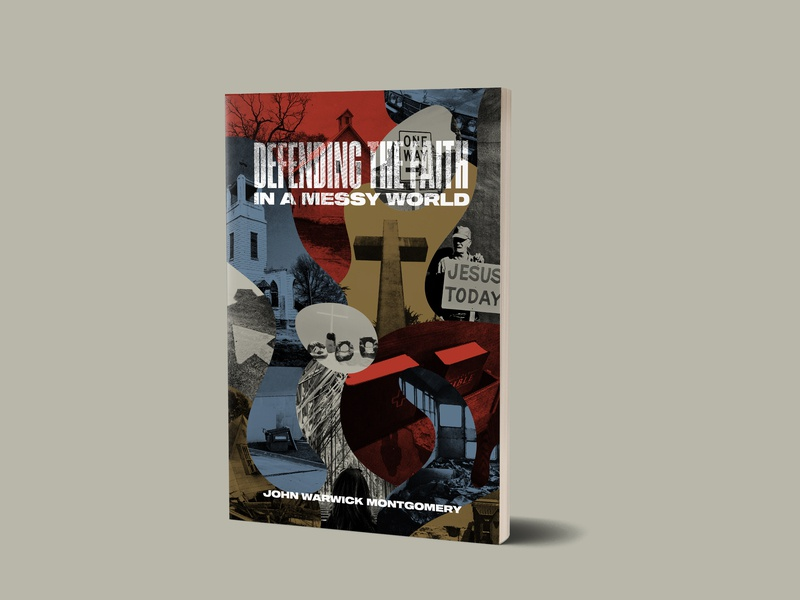 Defending the Faith book art books collage shapes texture theology book cover cover book christian