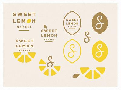 Sweet Lemon - branding exploration identity sweet lemon s slices sweet branding logo texture citrus lemons lemon