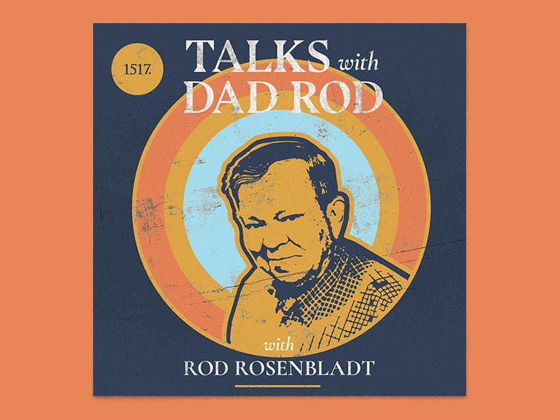 Talks with Dad Rod retro album art minimal texture gospel theological lutheran rod rosenbladt christian theology 1517 podcast