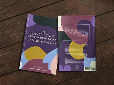 Lenten Devotional gowalla mockup blobs shapes christian saint sinner 1517 cover art book cover book design book