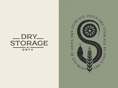 Dry Storage (WIP) snake logo hand drawn wheat bread storage dry snake branding logo minimal illustration texture