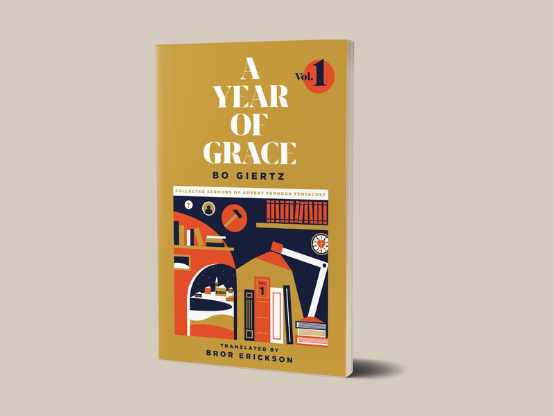 A Year of Grace mockup book mockup publishing 1517 publishing 1517 bo giertz theological christian grace book cover book design book cover