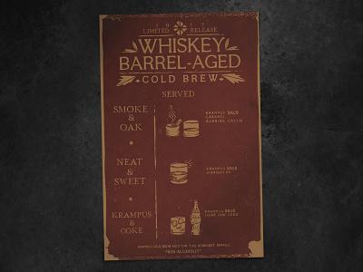 Whiskey BACB — ONYX menu menu design texture mockup hand-drawn hand drawn cold brew coffee bourbon barrel-aged barrel aged whiskey onyx menu illustration