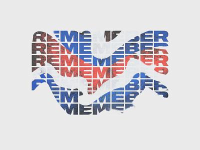 remember wavy red white blue sequel repeat minimal texture patriotic us america remember memorial memorial day
