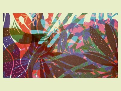 in the garden organic plant tropical gardens textures overlayed overlay abstract garden plants shapes vector illustration texture