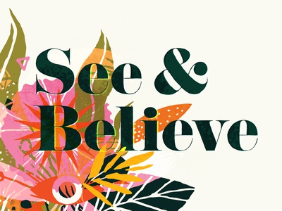 S&B - Springy easter springtime and eye plants spring springy believe see handdrawn hand drawn vector shapes minimal illustration texture