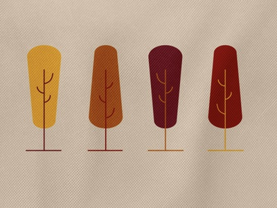 Sample Bag (Autumn Generic) 1 fall colors shapes illustration vector design sample bag trees tree minimal texture fall autumn