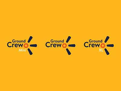 (remodel) Ground Crew walmart crew ground groundcrew logotype lockup branding idendity design vector logo minimal
