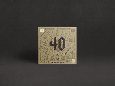 40 Minutes in the Old Testament - Podcast Art 1517 podcast art podcast minutes 40 old testament doctrine lutheran christ theology branding vector design logo album art christian illustration minimal
