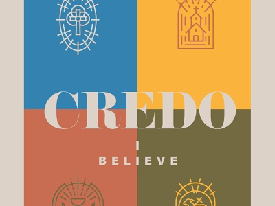 Credo book cover design design illustration minimal lutheran theology icon symbols believe book cover art book cover design book cover book credo christian