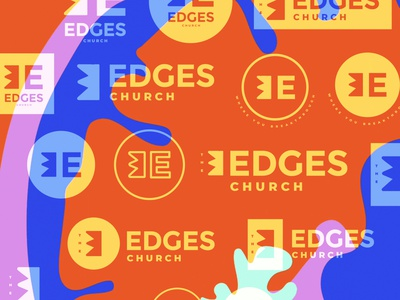 Screen Shot 2019 09 23 at 9 29 24 PM edges church logos design logo branding christian shapes illustration minimal