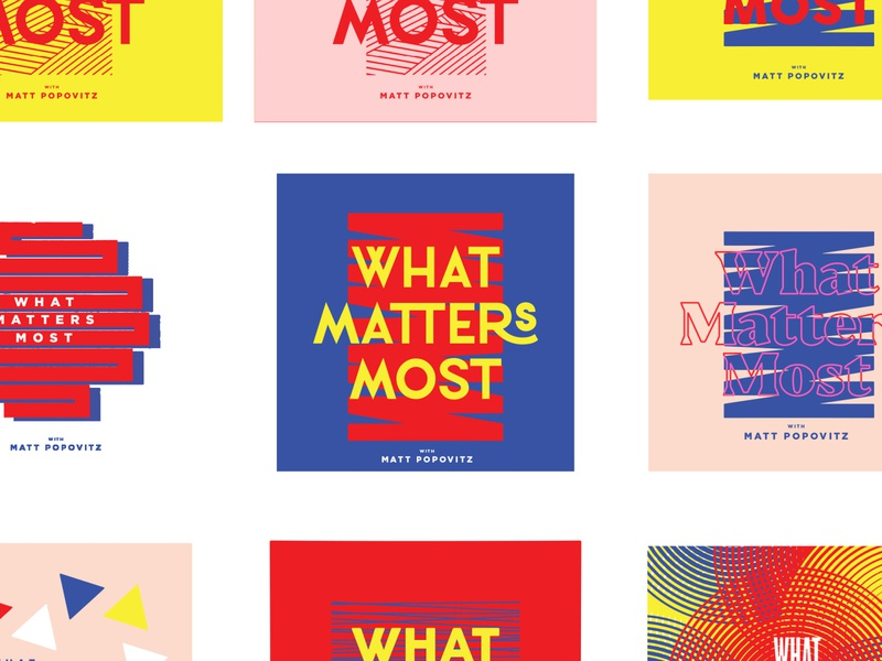 WMM2 branding podcast art most matters what what matters most podcast vector design illustration minimal