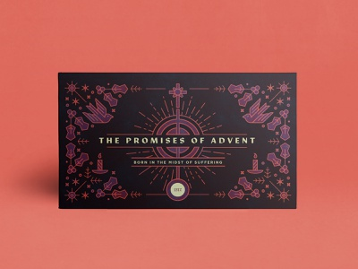 Promises of Advent texture design illustration line art christmas advent series art theology christian