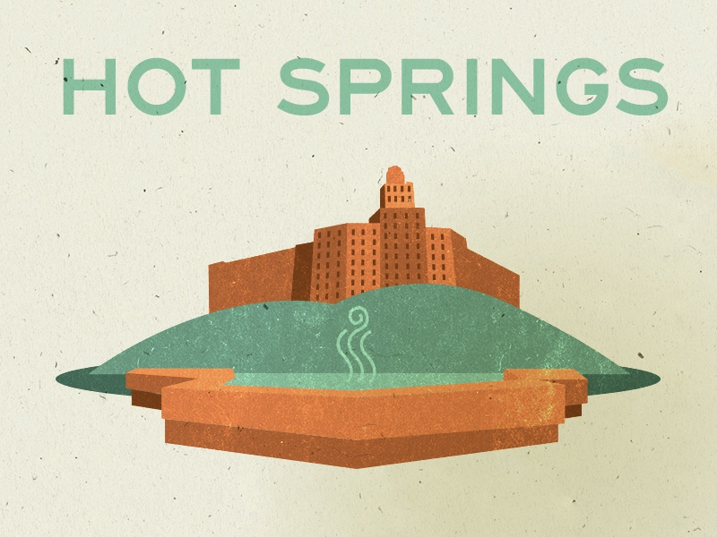EOY 2012 Hot Springs illustration info graphic hot springs ar arkansas water steam report finance statistics end of year annual report
