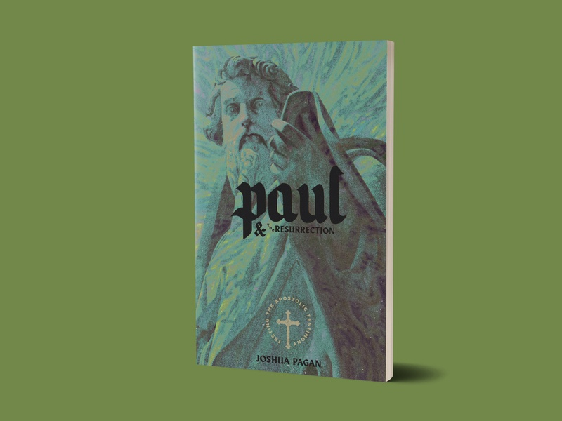 Paul and the Resurrection - 1517 Publishing apostle paul theological book cover art book cover book design branding christian texture minimal