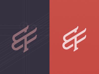 BreakFree Logo minimal typography lettering monogram process logo