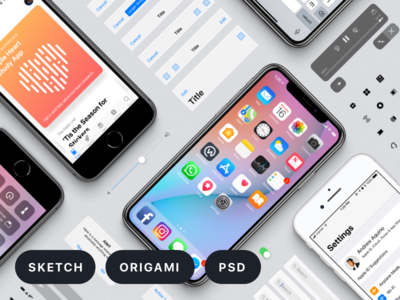 Facebook Design's iOS 11 GUI iphone x ios 11 free kit resources ui design gui