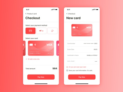 Daily UI #002 - Credit Card Checkout design credit card 002 figma payment dailyui ui concept daily 100 challenge checkout page checkout ios design ios app app dailyui 002