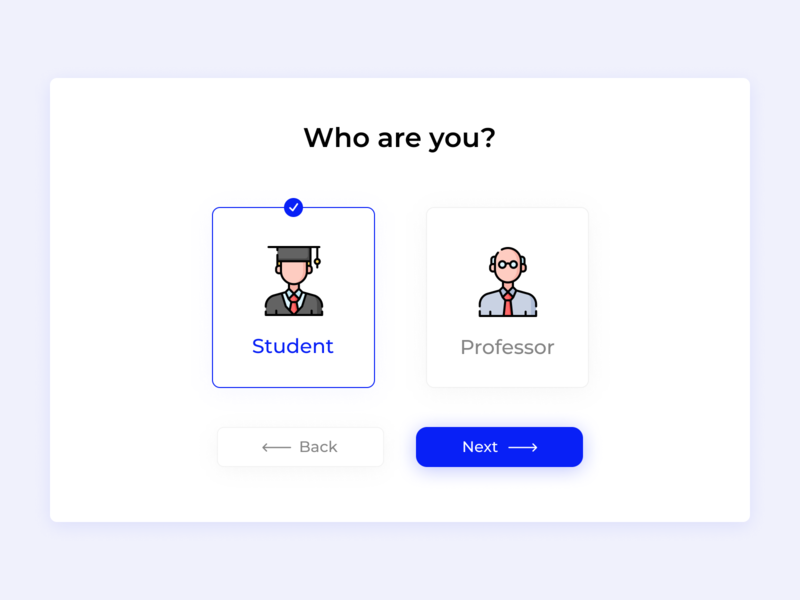 Daily UI #064 - Select Type User selection selected select user interface daily ui 064 user type select user type desktop ux interface uidesign design dailychallenge daily 100 challenge ui dailyui concept