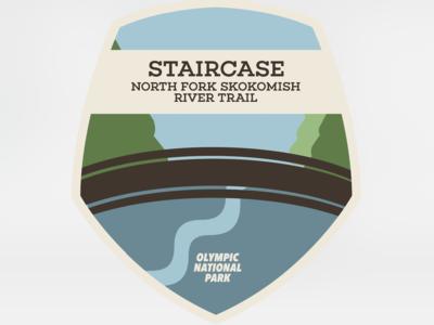 Destination Art - Staircase, Olympic National Park national parks tourism destination art book design print art