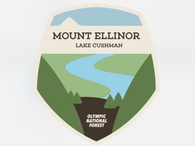 ScreenshotDestination Art - Mt. Ellinor, Olympic National Park tourism travel shield badge