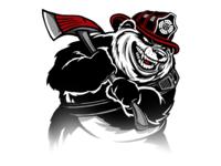 Firefighter Panda Logo Art