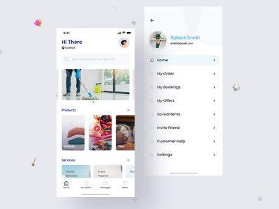Base App cleaning app cleaning iconset branding card design minimal service app uiux uidesign shopping app