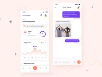 Coachr app gym app chart dashboard app card design uiux dribbble minimal chat app tracking app fitness app fitnessapp uidesign