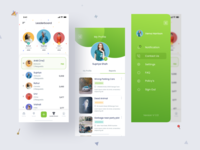 Community Reporting App map location leaders minimalistic minimal app design ios sidemenu menu profile leadership leaderboard uidesign uiux ui
