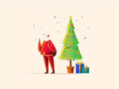 Merry Christmas santa clause santa claus santa merry xmas merrychristmas art cartoon character design vector illustration