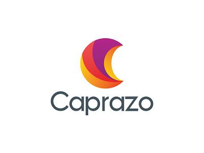Caprazo logo design corporate finance multicolour latter typography natural logo form moon design branding