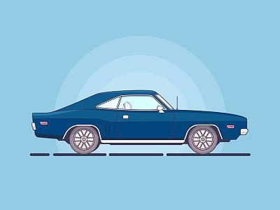 Dodge Challenger 1970 challenger vehicle vector sports small simple shine illustration flat dodge car automobile