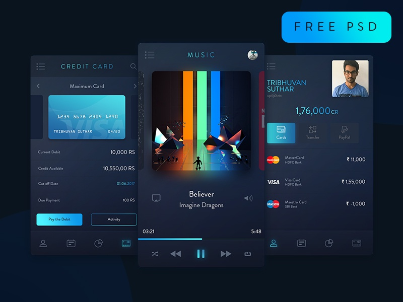 Download Trix UI Kit freebie