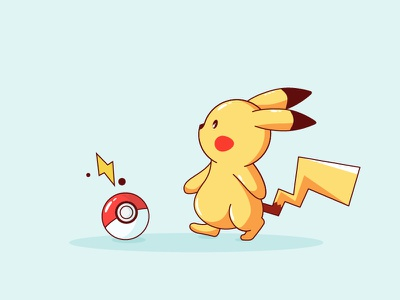 Pikachu Pokemon #1 pokemongo pokemon pikachu outline lightning illustration icon cap ball ash
