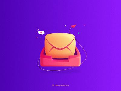 Message message brush affinitydesigner grainy gradient dribbble art icon vector illustration