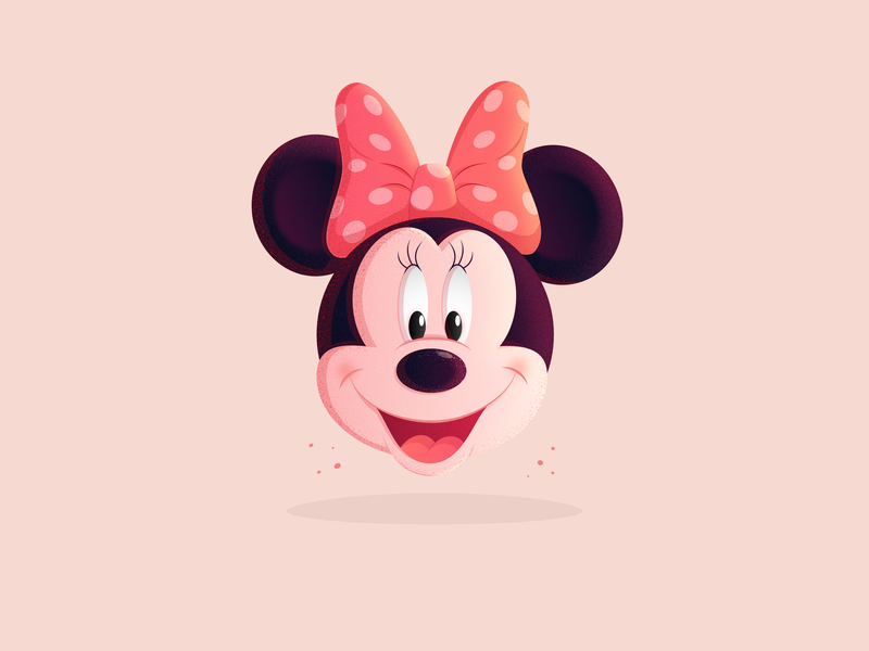 Minnie Mouse disney minniemouse mickeymouse mickey minnie affinitydesigner cartoon gradient dribbble character design vector illustration