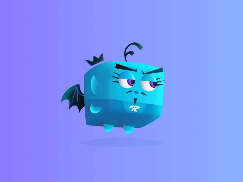 Devil 👿 Fairy fairy cute brush grainy affinitydesigner character cartoon dribbble design vector illustration