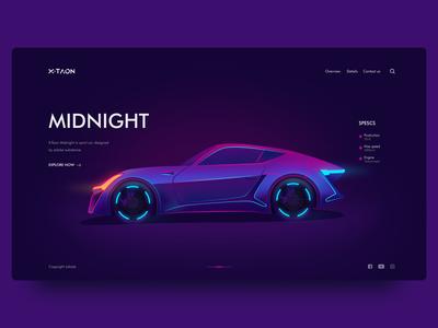 X-Taon Car Landing Page