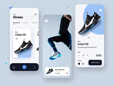 Shoes App nike adopt bb cart nike running uiapp uiux ui shoes nike ecommerce shoes app dribbble design