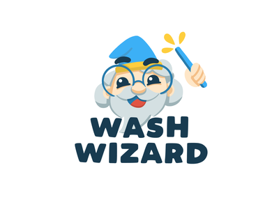 Some serious WIZ BIZ magic wizard mascot procreate brand design illustration lifestyle brand brand identity logo design logo branding