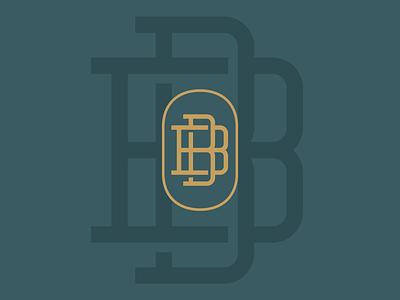 B&B Monogram type lettering monogram vector typography brand design lifestyle brand brand identity logo design logo branding