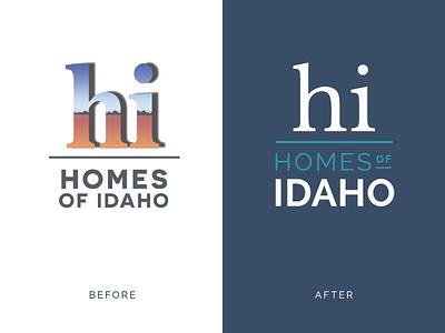 Homes of Idaho soft rebrand soft rebranding brand identity logo design idaho boise rebrand realtor realty branding logo