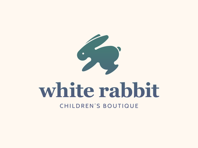 White Rabbit icon fashion brand boise fashion illustration design lifestyle brand brand identity logo design logo branding